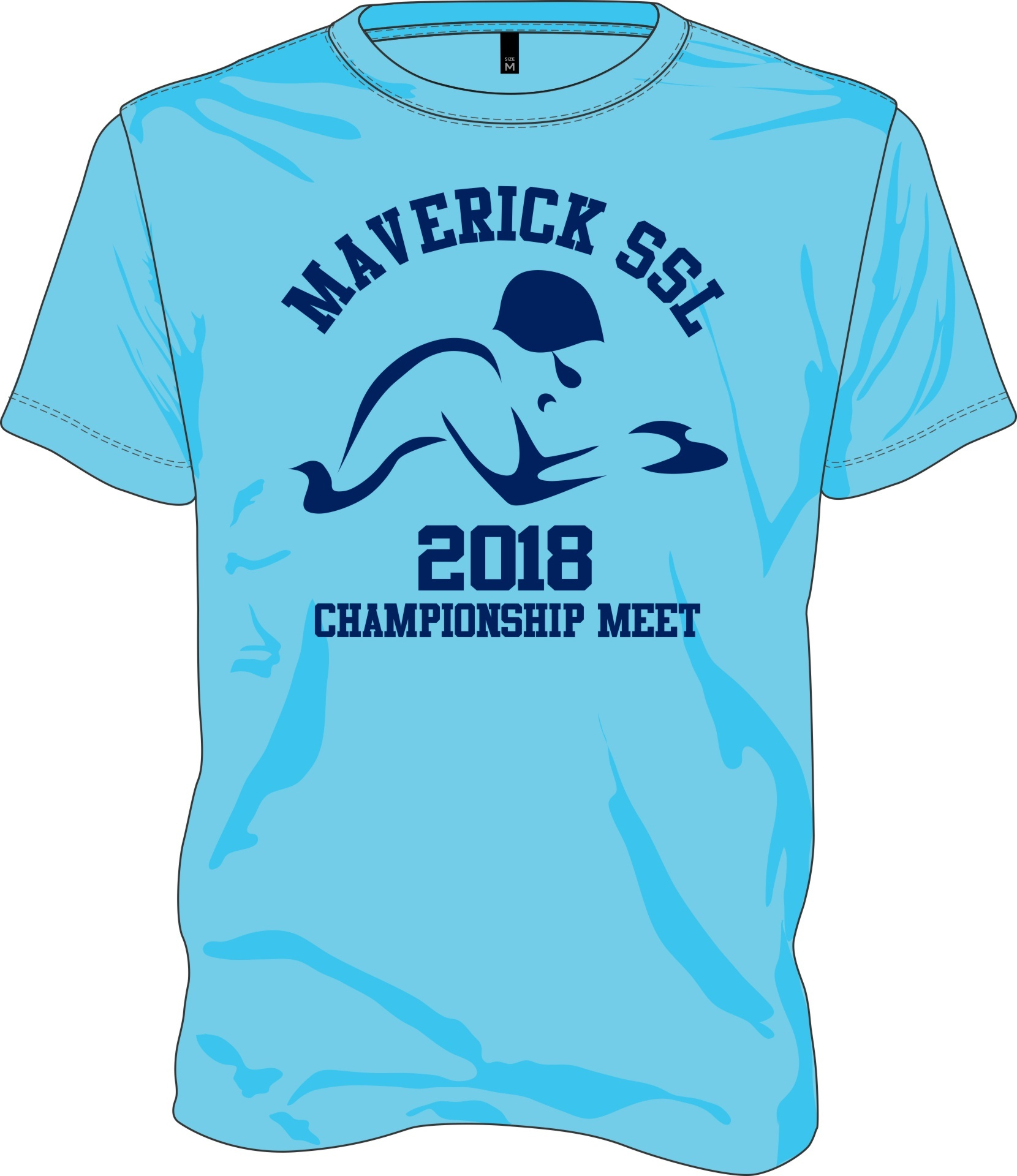 2018 Champs Meet Shirt front