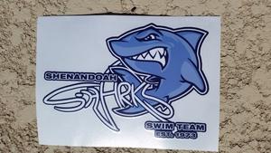 Shark Car Decal - New