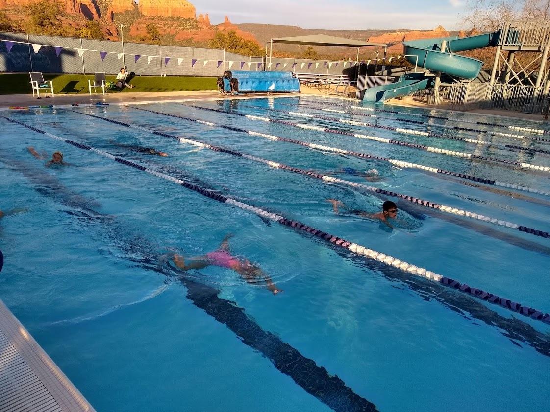 Our littlest swimmers having fun learning breaststroke.