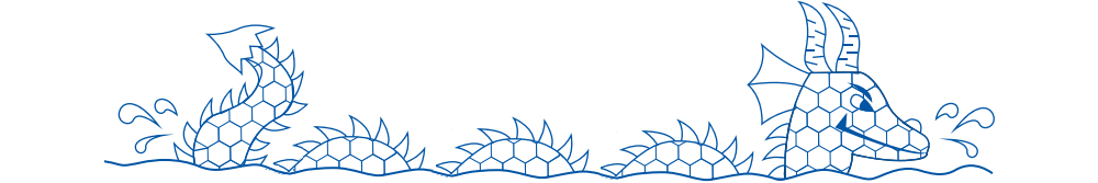 Sea Dragon Swimming Logo