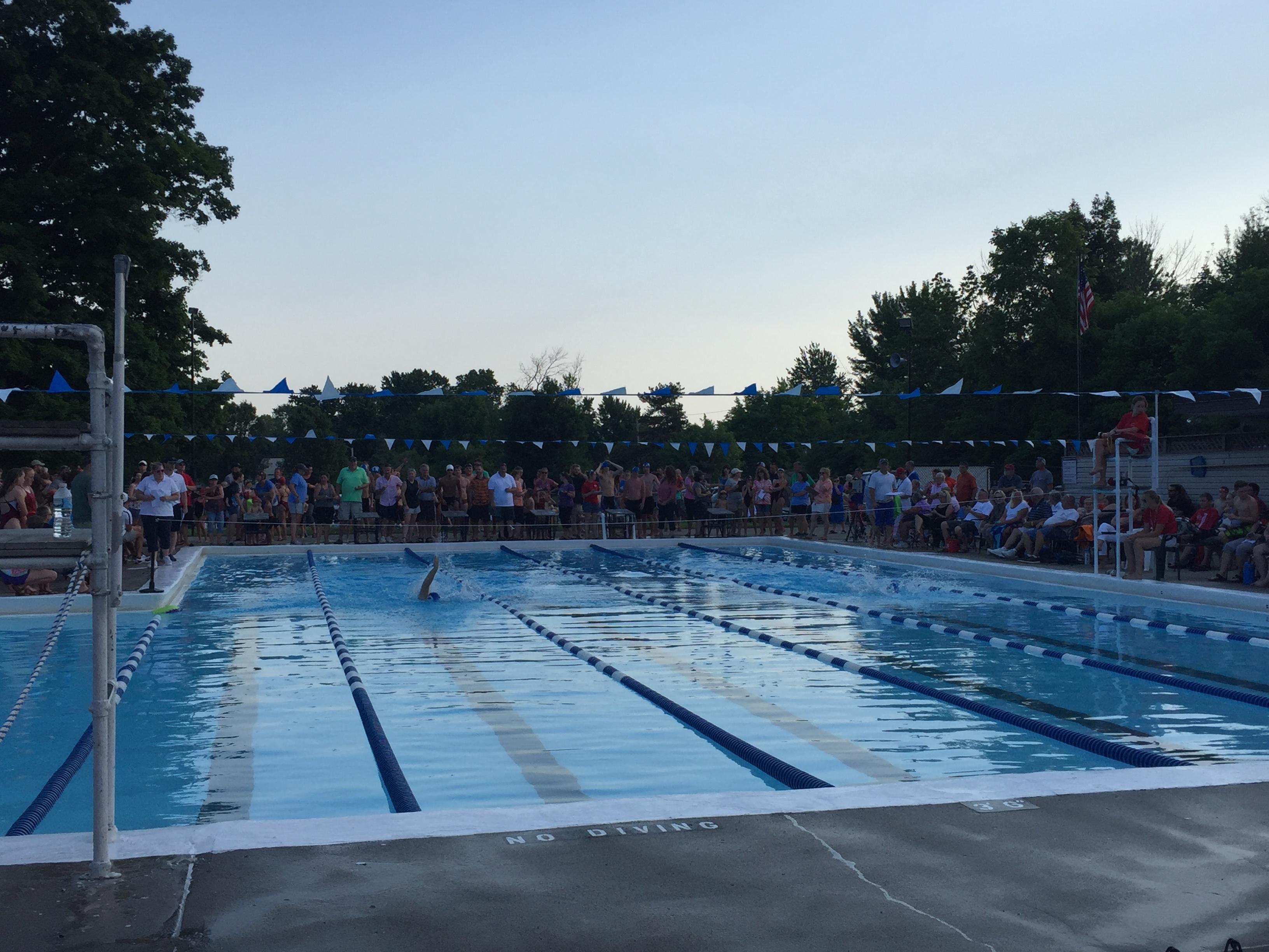 Crestwood Swim Club's six-lane outdoor pool