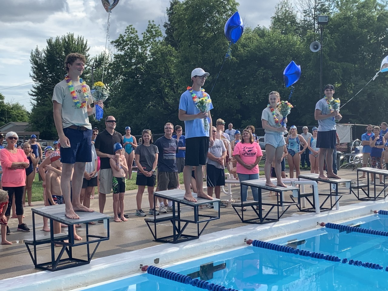 Celebrating our seniors at their final home meet