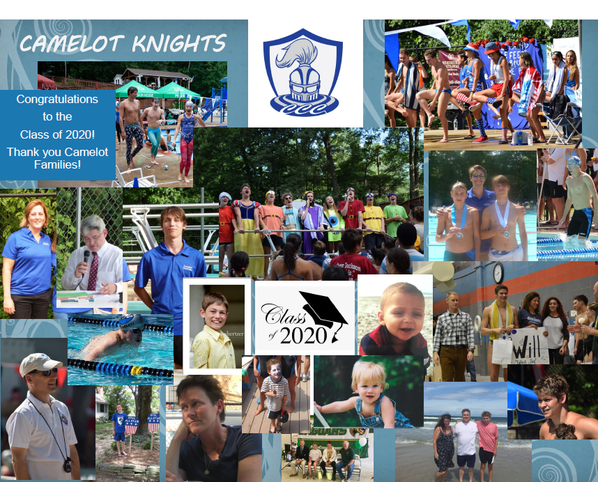 Congratulations to the Class of 2020. Knight Seniors, we will miss you!!  Thank you also to the Camelot families behind these wonderful swimmers and divers!