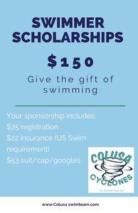 Sponsor a Swimmer Scholarship