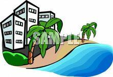 Hotel-clipart-0511-1103-2317-0357_hotels_on_a_hawaiian_beach_clipart_image