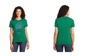 2021 Ladies Cut Cotton T-Shirt with Frog Logo