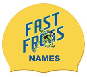 2021 FAST Frogs Personalized with LAST Name on Silicone Swim Cap (Qty: 2)