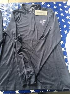 Ladies 3/4 zip dry-fit long sleeve pullover