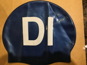 DI Navy Silicon Swim Cap
