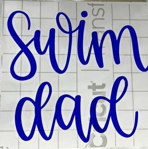 Swim Mom/Dad decal 1