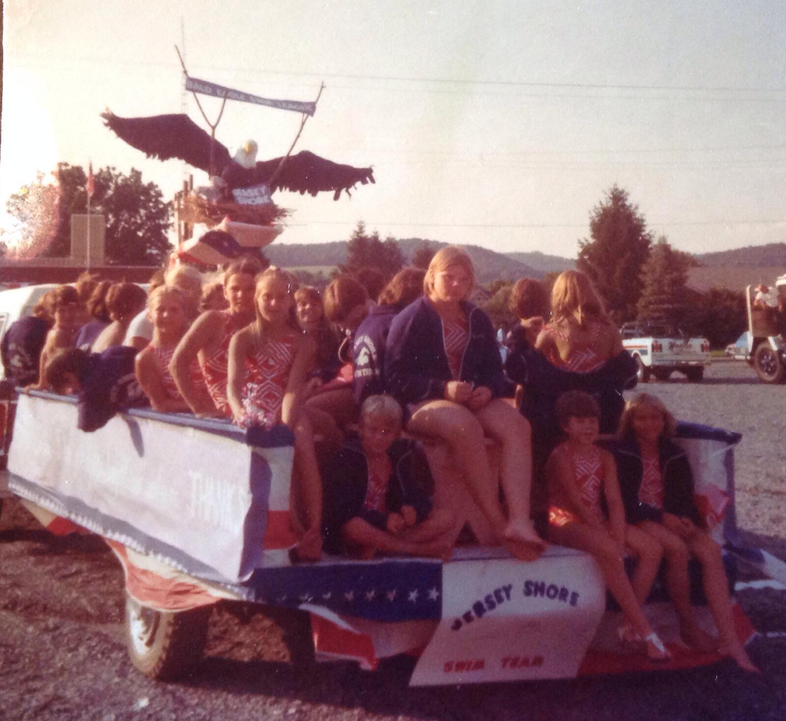 Team float for the Town Meeting Parade