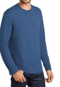 Unisex Maritime Blue - Norcross Logo Long Sleeve T Shir