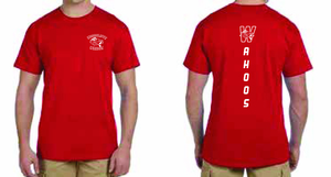 Red Wahoos Shirt (Wahoos down the back)
