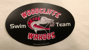 Black Wahoos Car Magnet